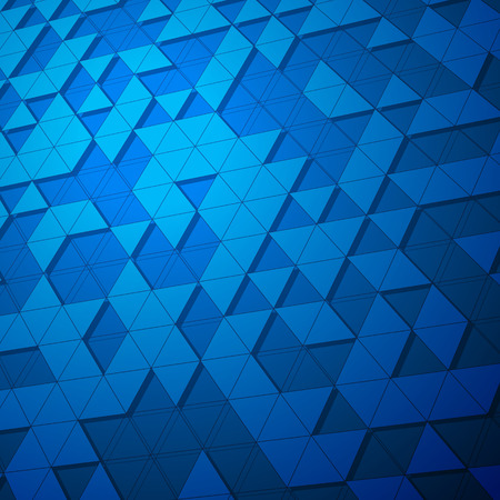 3d triangular net surface. Futuristic background in blue shades