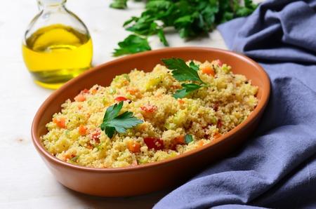 Delicious vegetarian couscous Standard-Bild