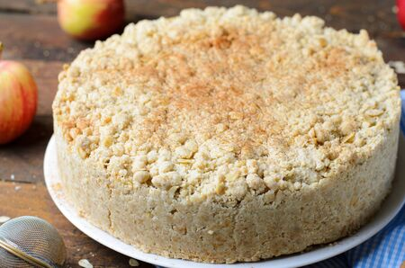 Crumble Pie with Cinnamon Apple Filling, Tasty Homemade Bakery