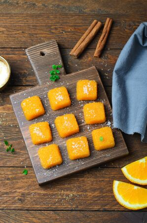 Orange and Pumpkin Jelly Candies, Tasty Homemade Sweets