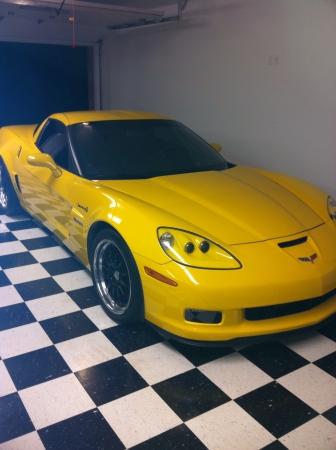 corvette: Yellow Chevy corvette
