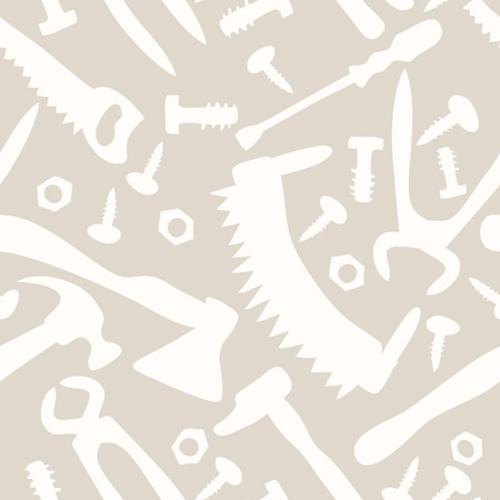 tools on a white background seamless pattern Vector