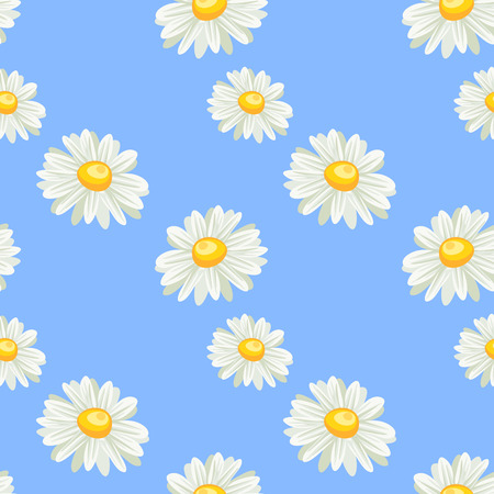 camomile seamless pattern photo