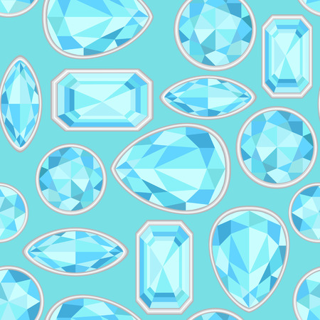 sapphire: blue Sapphire saturated color seamless pattern Stock Photo