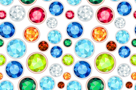 saturate: colored gemstone saturated color seamless pattern