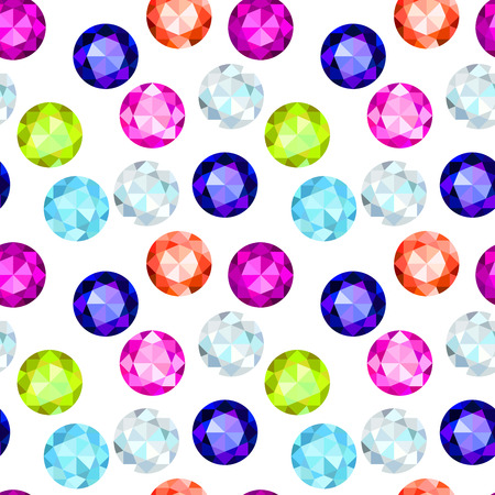 saturate: colored gemstone seamless pattern Stock Photo