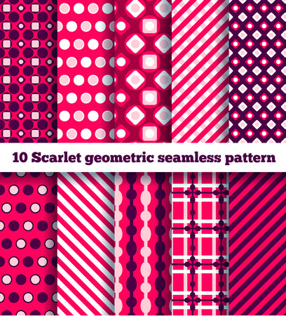 set of ten geometric pattern Stock Photo - 27395056