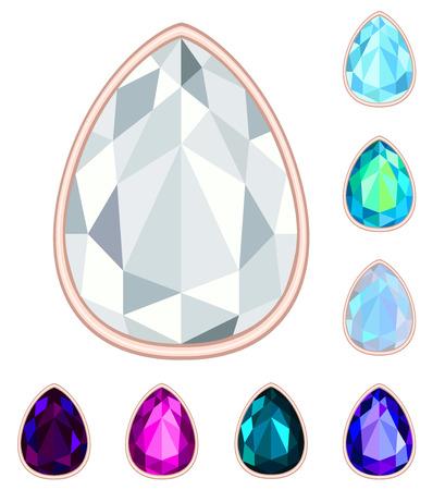 teardrop: teardrop gemstone set.