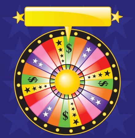 fortune wheel Illusztráció