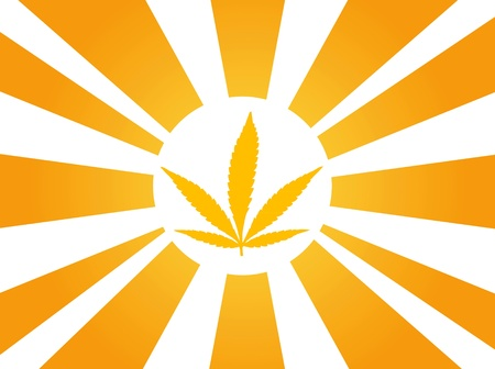 cannabis sunbeam Vector
