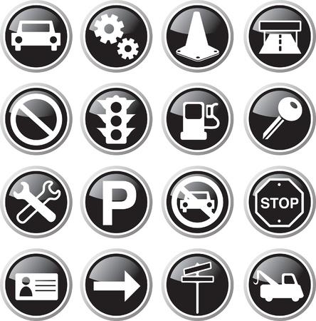 car icon set Illustration