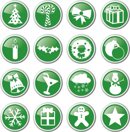 christmas icon set Stock Vector - 17983332