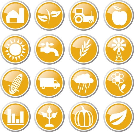 농업 아이콘 세트