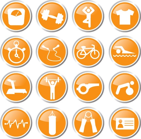 fitness icon set Stock Vector - 17983452