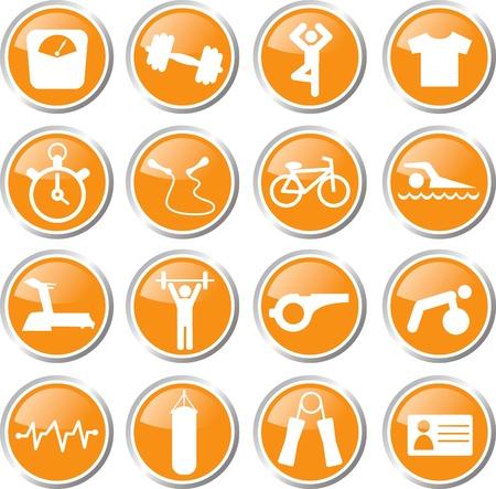 icon: fitness icon set
