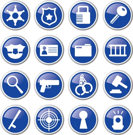police badge: police icon set