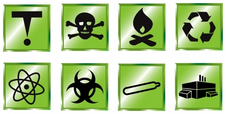 toxic substance: toxic waste icon set