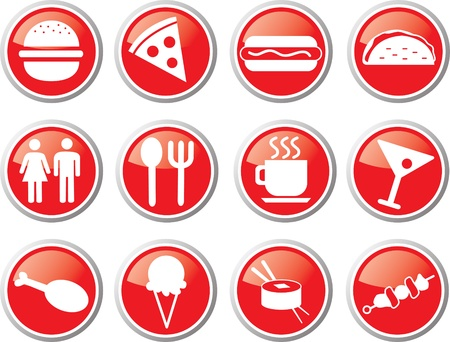 restaurant icon set Stock Vector - 17983396
