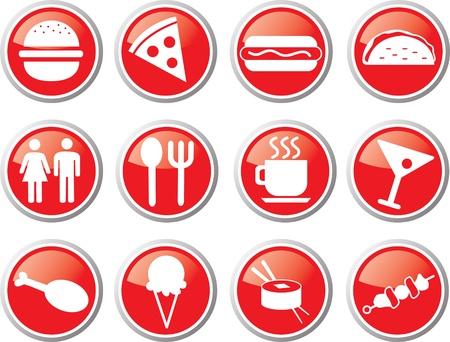 restaurant icon set Stock Vector - 17983396