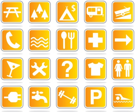 leisure icon set Vector