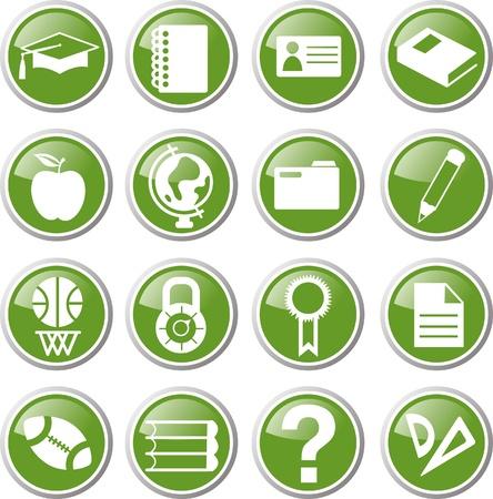 school icon set Banco de Imagens - 17983389