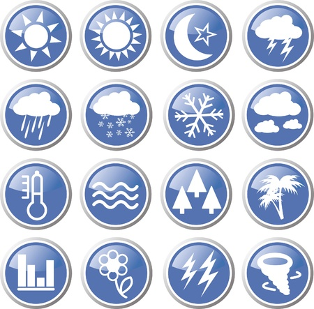 weather forecast icon set Stock Vector - 17983447