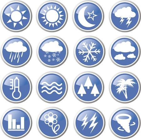 metrology: weather forecast icon set Illustration