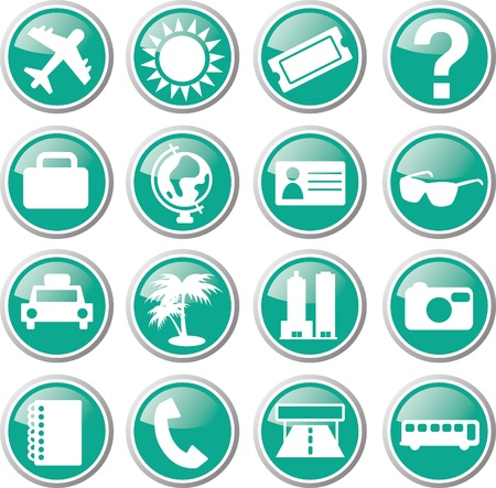 traveling icon set Stock Vector - 17983446