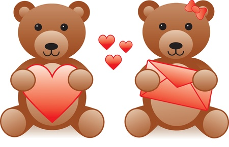 love teddy bear Vector