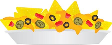 cheese nachos Illustration