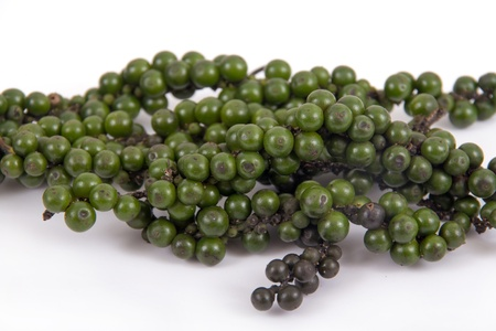 black peppercorn: green and black peppercorn