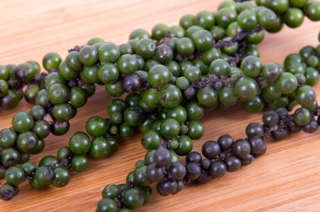 green and black peppercorn