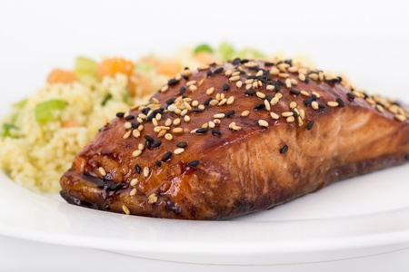 balsamic salmon Stock Photo