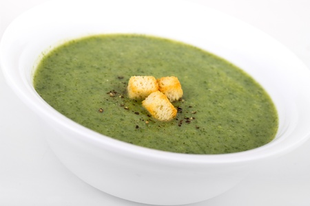 Broccoli cream soup photo