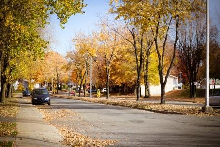 qc:  Sorel-Tracy town at fall, Qc, Canada Stock Photo