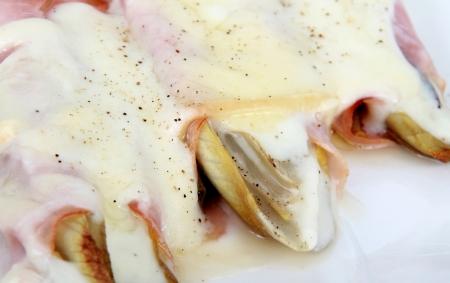 endive:  endive gratin with ham appetizer