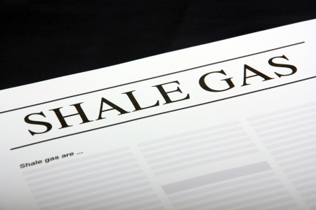shale:  Shale Gas document  Stock Photo