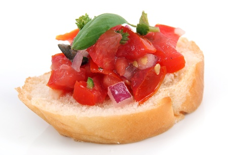 single bruschetta