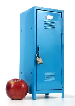 school locker and apple  photo