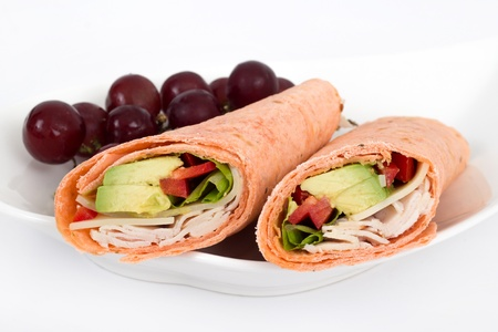 white meat sandwich wrap Stock Photo