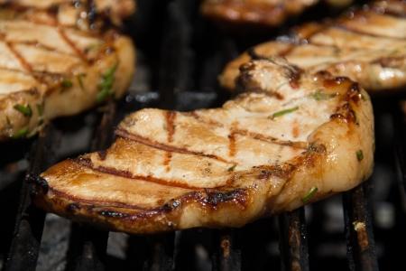 pork chop: grill marked pork chop