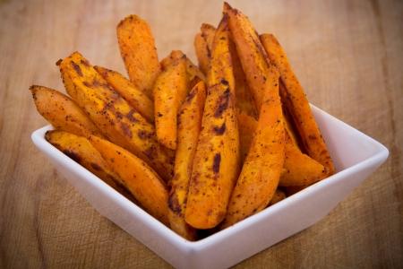 sweet potato fries Standard-Bild