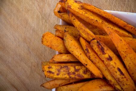 sweet potato fries Reklamní fotografie