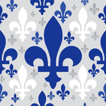 quebec emblem seamless pattern Illustration