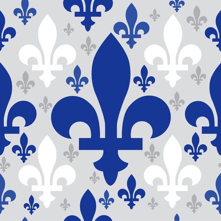 lys: quebec emblem seamless pattern Illustration