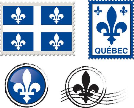 Quebec emblem stamps