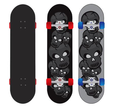 スケート ボードの設計図  イラスト・ベクター素材