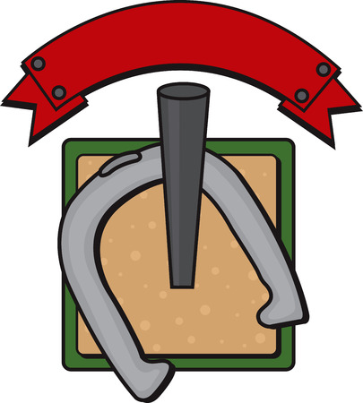 horseshoe game illustration vector