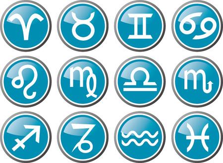 zodiac sign vector Vector