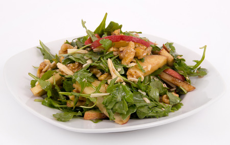 healthy apple and nut salad Imagens